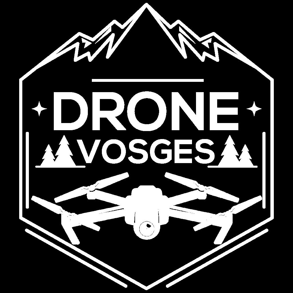 Logo Drone Vosges Blanc