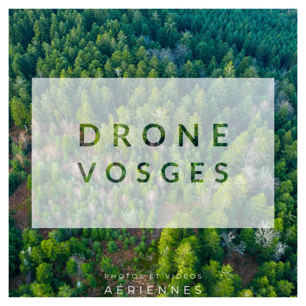 Photo de forêt vosgienne drone Vosges