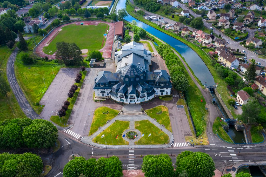 rotonde capavenir Vosges vue du ciel par Drone Vosges