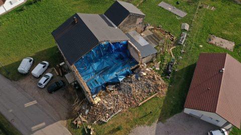 photo drone sinistre maison en ruine drone vosges