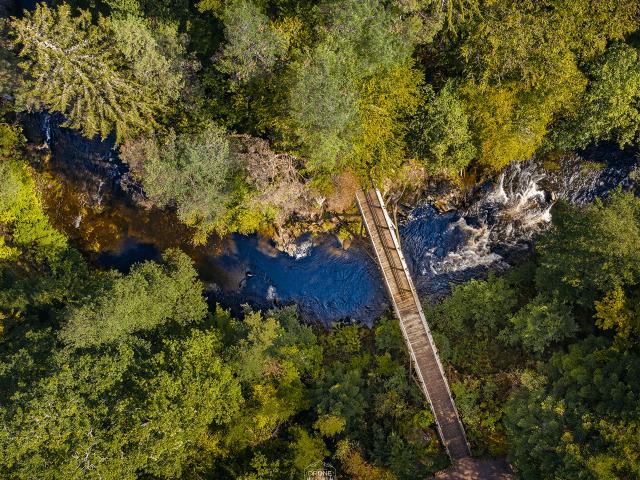 Photo aérienne des gorges de crocery dans Les Vosges photo prise par Drone Vosges