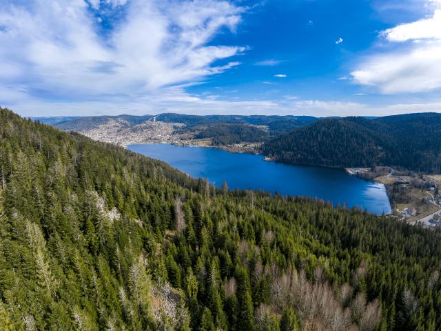 photo lac de Gérardmer par Drone Vosges pilote de drone professionnel